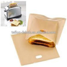 Anti-oil reusable pasrty bag PTFE toaster bag for grilled cheese sandwiches FDA dishwasher safe