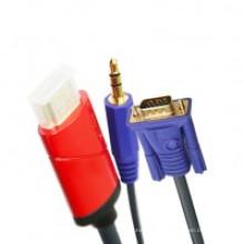 Câble HDMI vers VGA + Audio 3,5 mm