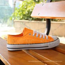 Women Classic Canvas Shoes Chaussures en caoutchouc vulcanisé (SNC-03027)