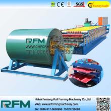 Doppelschicht-Stahlwalzenformmaschine für Dachziegel