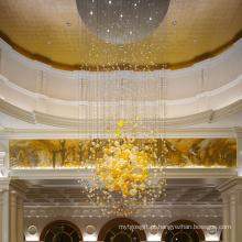 Lustre de bola de cristal deslumbrante do lobby personalizado