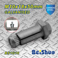 M10X18X50mm Low Pirce Galvanised Anchor Bolt for Steelwork
