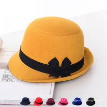 Леди Fashion Imitation Wool Зимняя верхняя формальная шляпа из ведра (YKY3228)