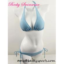 Reizvolle Dame Badebekleidung zwei Stück Badeanzug Beachwear Halter Art