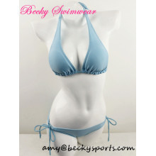 Sexy Lady′s Swimwear Two Piece Swimsuit Beachwear Halter Style
