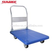China pesados preço barato portátil dobrável plataforma de plástico caminhão de mão