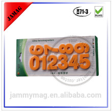 Jammymag fancy magnetic 3D number stickers for decorative