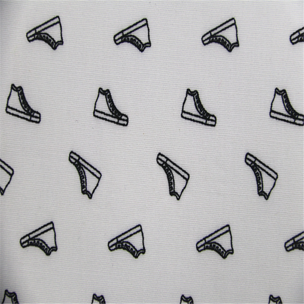 Shoe Pattern Printed Fabric