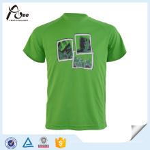 Man Green Custom T Shirt Сублимированная спортивная одежда