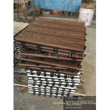 WPC Carrelage de terrasse solide imbriqué