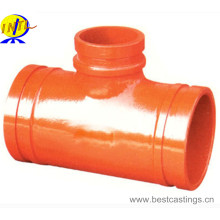 High Quality Ductile Iron Grooved Reducing Tee