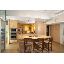Island Style Modern Wood Kitchen Cabinet