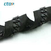 High quality 30# plastic derlin zipper wholesale black big teeth resin zipper for bag