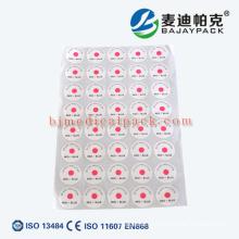 Etiqueta indicadora de esterilización EO utilizada para servicios médicos y hospitalarios