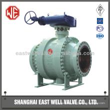 Trunnion ball valve gearbox