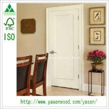 Porta de madeira branca do estilo do abanador do painel liso da fábrica
