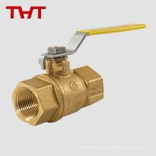 """Conexión roscada de agua caliente 1/2 """"válvula de bola de latón"""