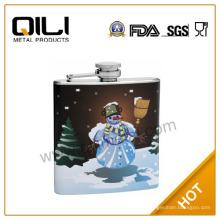 frascos de regalo de 5oz acero inoxidable moda Navidad frasco de la cadera