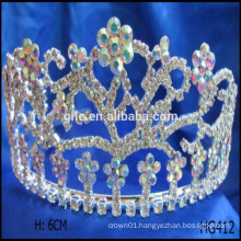 Flower pageant crowns happy new year christmas tiaras prince crown suitcase