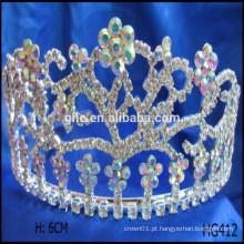 Coroas de desfile de flores ano novo feliz tiaras de natal princesa mala de coroa