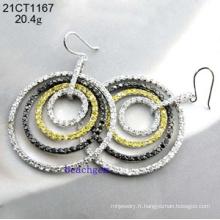 Bijoux argent-zircon boucles d'oreilles (21CT 1167)
