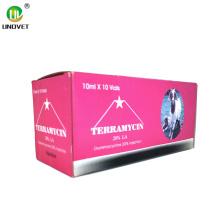Inyección de oxitetraciclina Hcl 20% para veterinaria