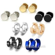 2016 Punk Style Stainless Steel Hoop Stud Earrings Set