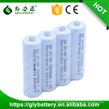White Color 3000mAh AA ni-mh aa rechargeable battery