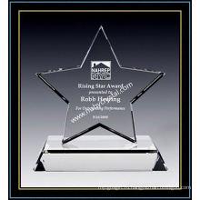 Кристалл звезда премии превосходства 7-дюймовый высокий (ну-CW864)