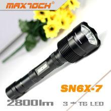 Maxtoch-SN6X-7 LED wiederaufladbare Tactical Cree T6 3 * Cree Xm-l Taschenlampe