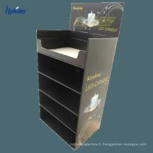 Support matériel de plancher de papier d'affichage de lumières de carton pour l'ampoule