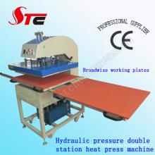 Machine de transfert de presse de la chaleur Machine de presse de la chaleur de pression d'huile Machine de transfert de chaleur de pression hydraulique Station Double Stc-Yy01