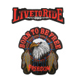 Cloth Motorcycle embroidery patches eagle embroidery badge