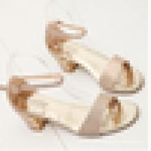 Melhor qualidade Giltter material sandália mulheres sandálias