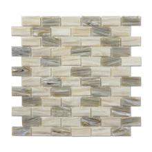 Brick Glass Mosaic Tile Hot Melting Glass Mosaic for Kitchen