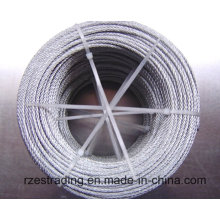 Galvanizado de alta qualidade corda de fio de aço