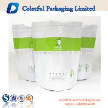 Doypack en plastique zip-lock sac se lever sachet fenêtre fruits secs emballage en plastique sacs 1 kg