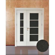 Modernes Art-Doppeltes Blatt-Weiß Lackierte verglaste Innentür