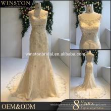 высокого качества слоновой кости свадебные платья сделано в Китае