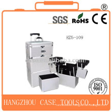 Multifunction Three Tier Elegant Rolling Cosmetic Case with competitive price
