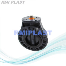 PVC Butterfly Valve For Pneumatic Actuator Install