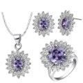 Blue Topaz Micro Setting 925 Silver Jewelry Set Wholesales