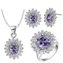 Amethyst Gemstone Jewelry Set 925 Sterling Silver Jewelry