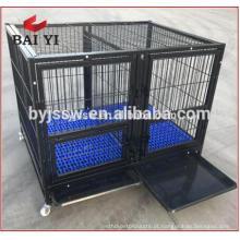 Heavy Duty Square Tube Dog Cage Kennel com quatro rodas para venda (Whatsapp: +86 13331359638)