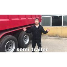 clinker and gravel transport Dumper trailer Rear