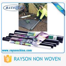 plantes de couverture de sol de jardinage noir pp tissu tissé comme couvre-sol