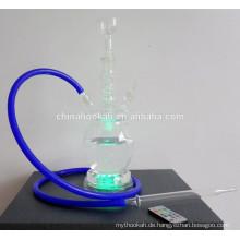 GH076-LT Glas rauchen Pfeifen / nargile Rohr / Wasser Rohr / mit LED Licht / sheesha / narguile
