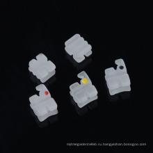 Ортодонтический керамический кронштейн Dental 5 * 5 Mbt Slot 018 Ceramic Brace