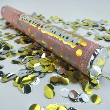 La meilleure qualité 24 pouces couleur ronde ignifuge partie biodégradable et canons confettis de mariage