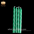 Top Level Cake Decoration Green Ombre Spiral Candles Taper Suppliers